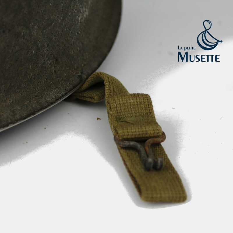 CASQUE M1 COLONIAL WWII US ARMY FRANCE MARINE ANCRE MILITARIA COIFFUR