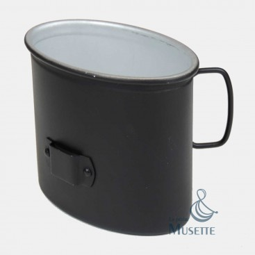 Black german cup for the canteen