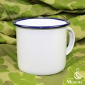 White enameled cup