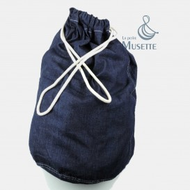 Blue Denim Barrack Bag