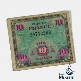 10 Francs Invasion Note