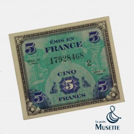 5 Francs Invasion Note