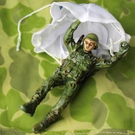 Resin paratrooper