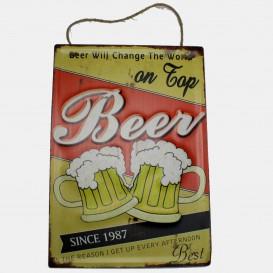 Plaque Métal Beer