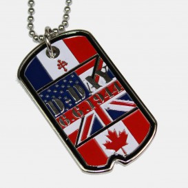 Allied flags Dog Tags