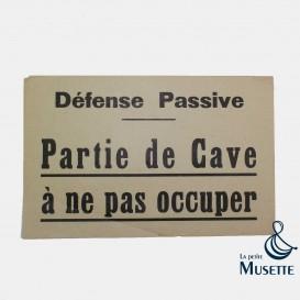 Défense Passive - Cave