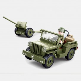 Jeep and cannon toy