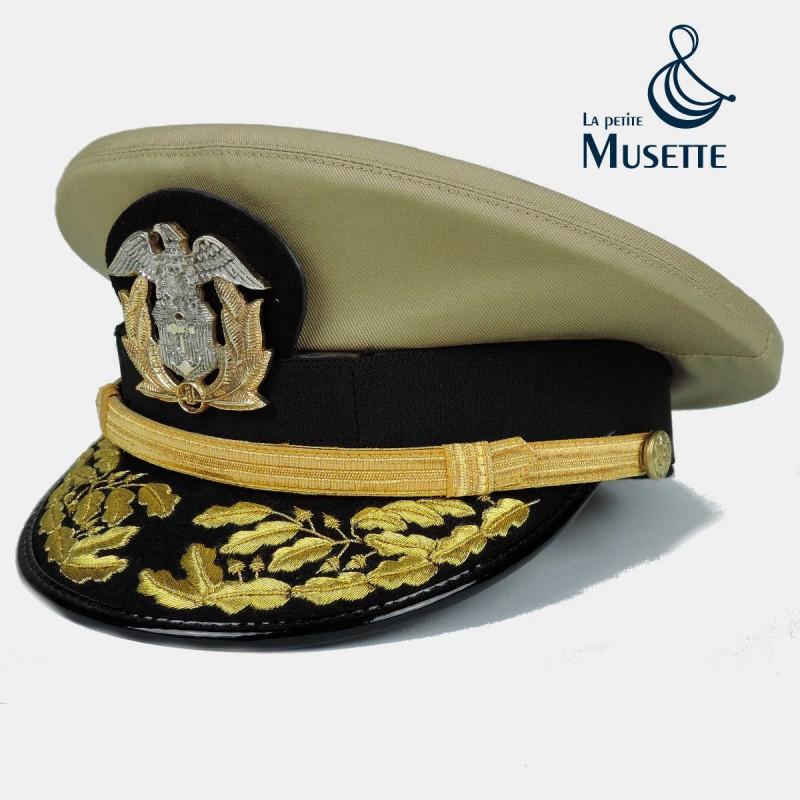 Usn Navy Merchant Marine Officer Cap Bullion Wwii 1944