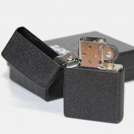 Black Crackle Zippo Lighter
