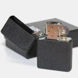 Briquet Zippo Black Crackle