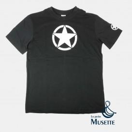 T-shirt Noir Etoile US