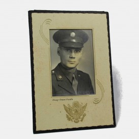 US Soldier photo framed