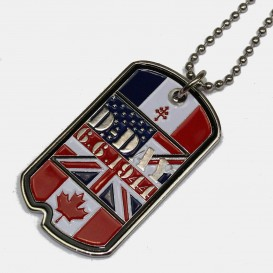 Flags Dog Tags