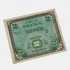 Billet d'invasion 2 Francs