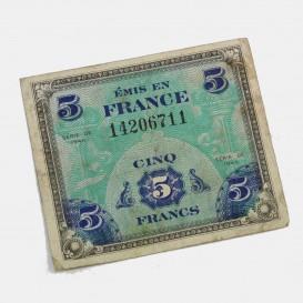 Billet d'invasion 5 Francs