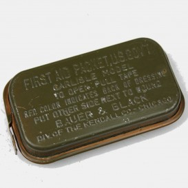 Green US WWII First-aid bandage box