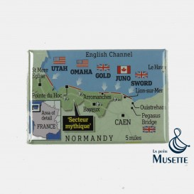 D-day Map Magnet