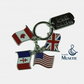 Flags key ring