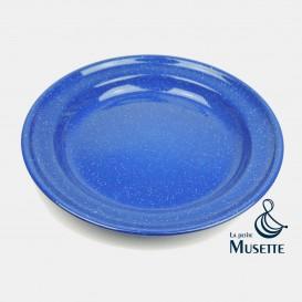 Enamelled plate