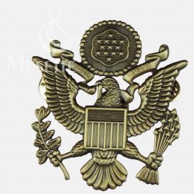 Insigne métallique pour la casquette d'officier US Army