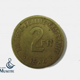 Pièce d'invasion 2 Francs