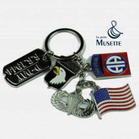 US Airborne key ring