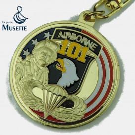 101st Airborne key chain