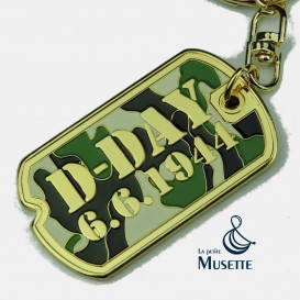 Dog Tag Camo Keychain