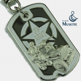 Jeep Dog Tag Keychain